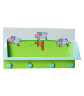 PERCHERO DE PARED MADERA INFANTIL