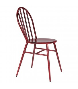 SILLA METAL WEST ROJA