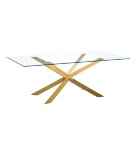 MESA COMEDOR GOLD GLASS