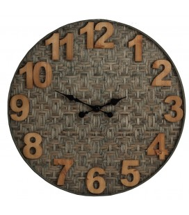 RELOJ DE PARED FIBRA Y MADERA FEEL