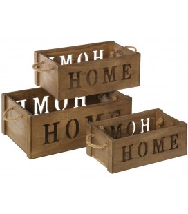 SET 3 CAJAS HOME CORDEL NOGAL