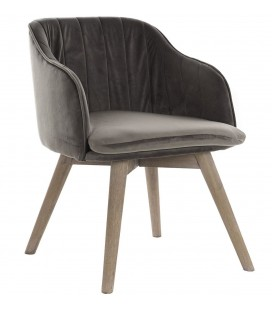 SILLON RUBBERWOOD GRIS
